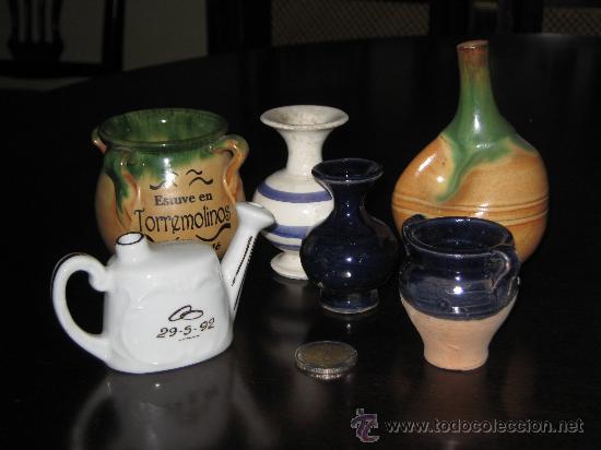 UN LOTE MUY CURIOSO DE PEQUEÑAS CERAMICAS (Vintage - Decoración - Porcelanas y Cerámicas)