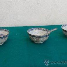 Vintage: 3 CUENCOS Y CUCHARRONES ORIENTALES.. Lote 28341336