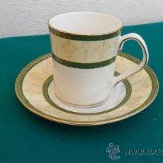 Vintage: TAZA Y PLATO DE PORCELANA. Lote 28422550