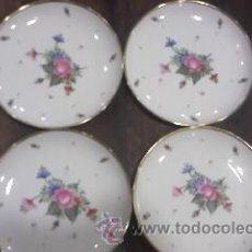 Vintage: LOTE DE 4 PRECIOSOS PLATOS MARCA LAGENTHAL SUIZOS,TODOS SELLADOS Y FECHADOS AÑOS 64/65/68. Lote 60797942