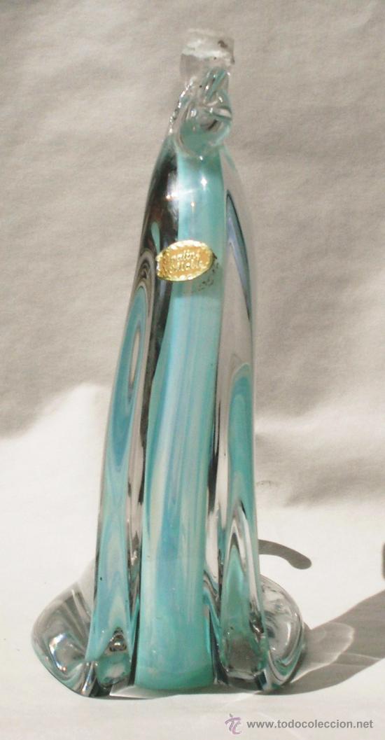 Vintage: Opaline veritable. Gallo. Figura de cristal soplado. Italia 1950. - Foto 5 - 29135989