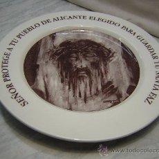 Vintage: PLATO CERAMICA SANTA FAZ DE ALICANTE CON SELLO DEL AYUNTAMIENTO Y DE MERCADOS MUNICIPALES. Lote 29415229
