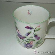 Vintage: TAZA PORCELANA INGLESA - ROSE OF ENGLAND - DECORADA CON FLORES - 8.5 ALTURA - 8 CM BOCA. Lote 30254317