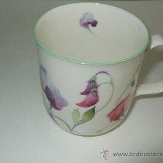 Vintage: TAZA PORCELANA INGLESA - ROSE OF ENGLAND - DECORADA CON FLORES - 8.5 ALTURA - 8 CM BOCA. Lote 30254328