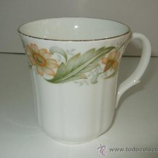 Vintage: TAZA PORCELANA INGLESA - DUCHESS - BONE CHINA - GREENSLEEVES - 8,5 CM ALTURA - 7,5 CM BOCA. Lote 30254677