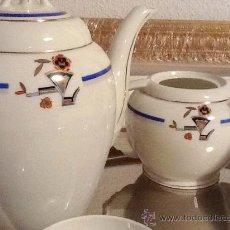 Vintage - Juego café porcelana Coimbra Portugal Art Déco Modelo Belga - 56108205