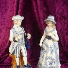 Vintage: PAREJA ROMANTICA DE EPOCA (PORCELANA) MEDIDA: 26CM. AÑO70. Lote 30397951