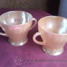 Vintage: PRECIOSOS TAZONES DE DESAYUNO ,MARCA ANCHOR HOCKING FIRE-KING.MADE IN U.S.A.DE LOS AÑOS 70. Lote 30511825