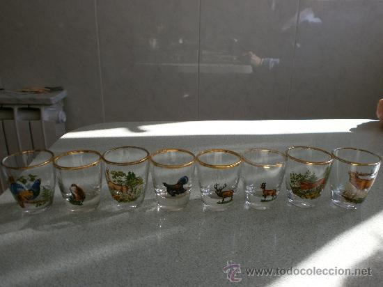 8 VASOS DE LICOR O CHUPITO ALEMANES (Vintage - Decoración - Cristal y Vidrio)