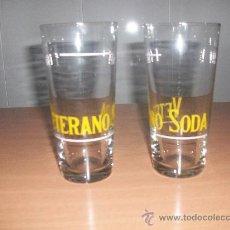 Vintage: VASOS-VASO CRISTAL PUBLICIDAD VETERANO SODA. Lote 31082172
