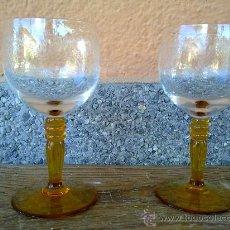 Vintage: PRECIOSAS 2 COPAS CON BONITO TALLADO. Lote 31658912