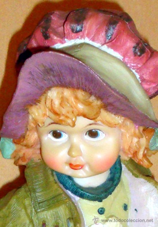 Vintage: Figura muñeca en resina basada en los dibujos de Sarah Kay, Holly Hobbie o Miss Petticoat, Mary May - Foto 2 - 32254445