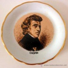 Vintage: PLATO DE PORCELANA CON EL BUSTO DE CHOPIN * 15CM. Lote 32465695
