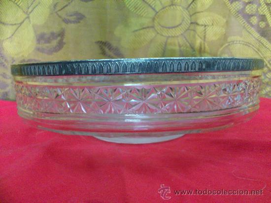 CENTRO FRUTERO ANTIGUO CRISTAL TALLADO. 20 CM. ... (Vintage - Decoración - Cristal y Vidrio)