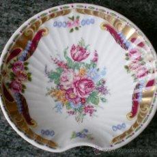 Vintage: PLATO CONCHA LIMOGES FLORES, IDEAL PARA JABONERA. Lote 32506989