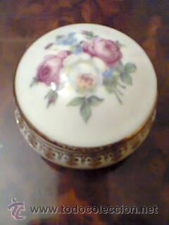 Vintage: Caja de Limoges ,año 1950,motivo floral. - Foto 3 - 32535924
