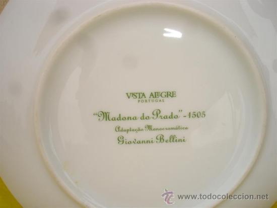 Vintage: plato de porcelana vistaalegre - Foto 2 - 32646642