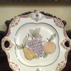 Vintage: BANDEJA CERAMICA PORTUGUESA PINTADA A MANO..FIRMADO. Lote 32654356