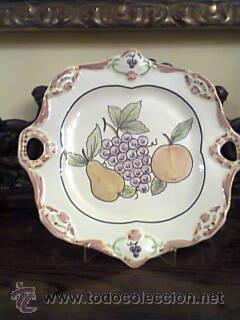 Vintage: Fuente de ceramica portuguesa pintada a mano.Firmada - Foto 3 - 32654356