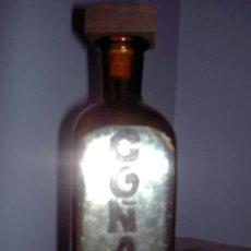Vintage: BOTELLA COÑAC CRISTAL AMBAR. Lote 32852361