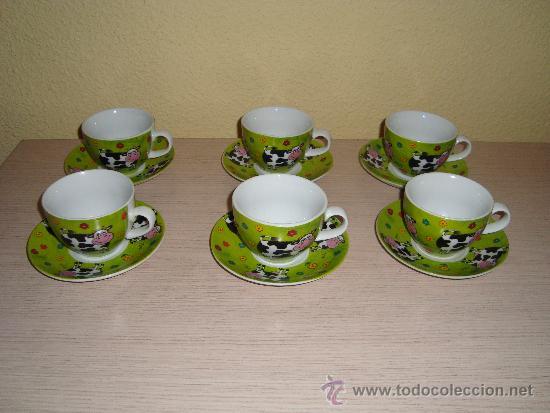 Gracioso juego de caf o t 6 tazas 6 plat comprar for Juego tazas cafe