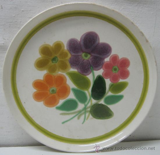 AÑOS 60 ALEGRE Y BELLO PLATO FLORAL BY FRANCISCAN ENGLAND INTERPACE - 26.5 CM. (Vintage - Decoración - Porcelanas y Cerámicas)
