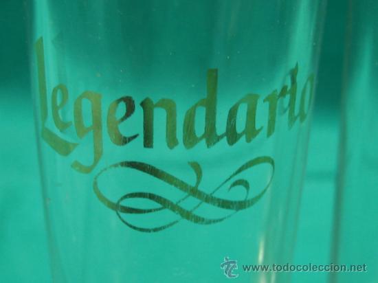 Vintage: 3 Vasos de chupitos LEGENDARIO. Altura 10´5x4 cm - Foto 2 - 34088649