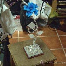 Vintage: FLOR DE CRISTAL 34 CM. Lote 34114016