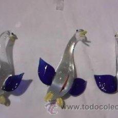 Vintage: LOTE DE 3 PATOS DE CRISTAL,EN CAJA ORIGINAL.. Lote 34133106