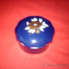 Vintage: PRECIOSO JOYERO AZUL PORCELANA SANBO MADE IN SPAIN. Lote 34236610