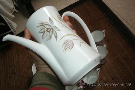 Vintage: RECOLETO JUEGO DE TE O CAFE MARCA PONTESA DE 7 PIEZAS DECORADAS Y SIN USO - Foto 12 - 34814432