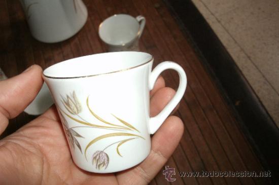 Vintage: RECOLETO JUEGO DE TE O CAFE MARCA PONTESA DE 7 PIEZAS DECORADAS Y SIN USO - Foto 6 - 34814432