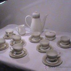 Vintage: JUEGO DE CAFÉ DE PORCELANA BIDASOA. 8 SERVICIOS. Lote 34703886