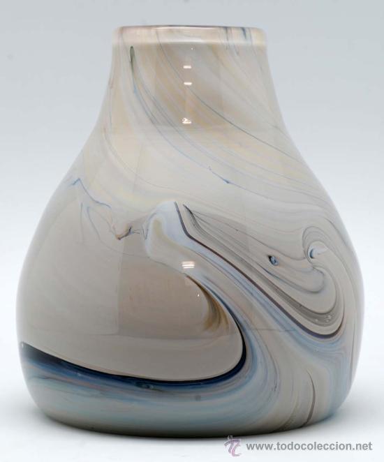 Vintage: Jarron cristal de murano efecto marmol años 50 - Foto 5 - 34923279