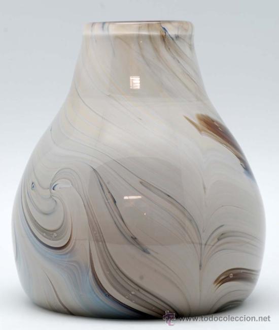 Vintage: Jarron cristal de murano efecto marmol años 50 - Foto 4 - 34923279
