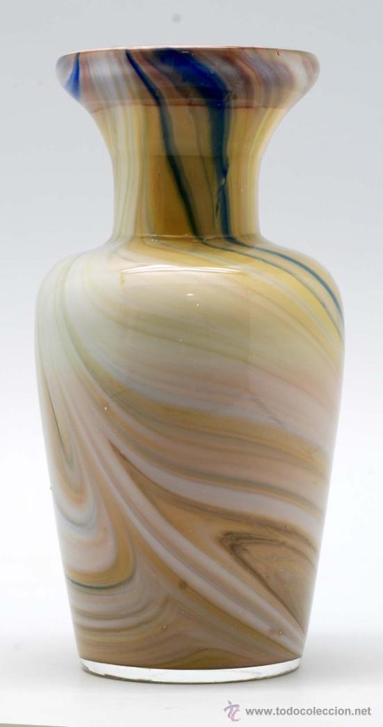 Vintage: Jarron cristal de murano efecto marmol años 50 - Foto 2 - 34922964