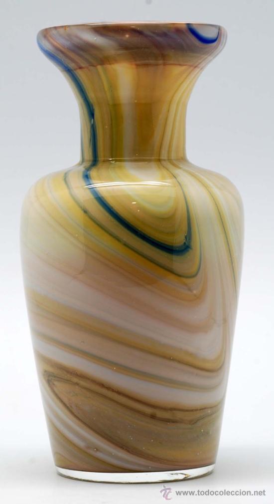 Vintage: Jarron cristal de murano efecto marmol años 50 - Foto 3 - 34922964