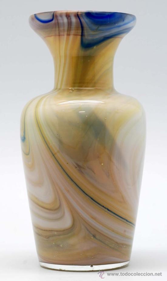 Vintage: Jarron cristal de murano efecto marmol años 50 - Foto 4 - 34922964