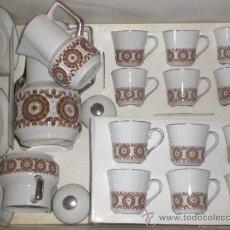 Vintage: JUEGO DE CAFE PORCELANA-VINTAGE. Lote 34942801