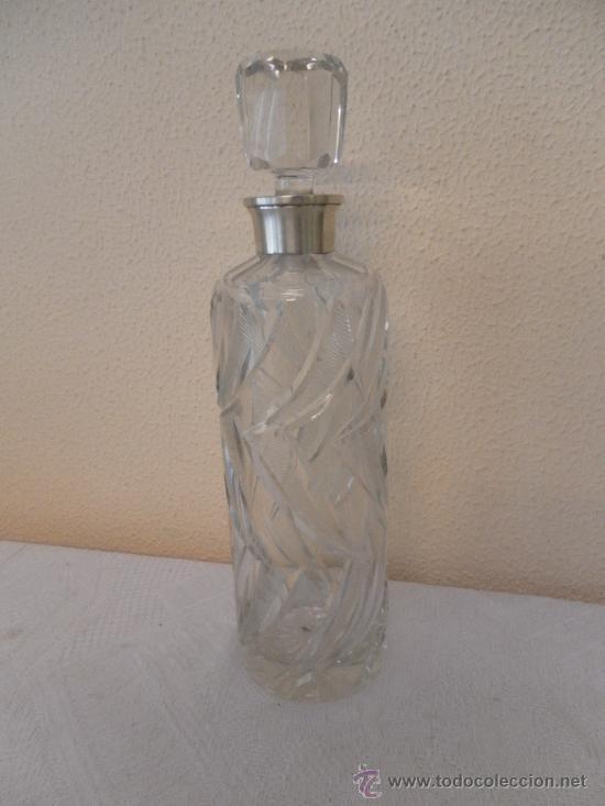 Vintage: Botella de cristal y brocal de plata. - Foto 3 - 35290546
