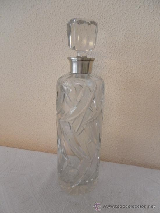 Vintage: Botella de cristal y brocal de plata. - Foto 2 - 35290546