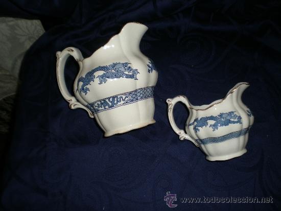 LOTE DOS JARRAS INGLESAS (Vintage - Decoración - Porcelanas y Cerámicas)
