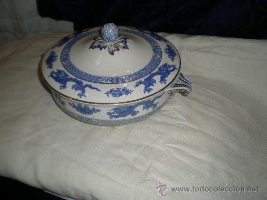 ANTIGUA LEGUMBRERA INGLESA (Vintage - Decoración - Porcelanas y Cerámicas)