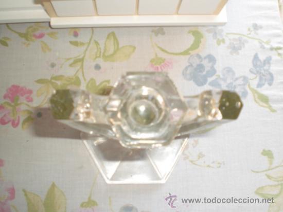 Vintage: CANDELABRO DE CRISTAL O VIDRIO - ART DECO - Foto 3 - 35752162