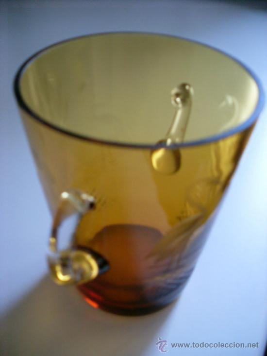 CUBITERA CRISTAL COLOR AMBAR (Vintage - Decoración - Cristal y Vidrio)