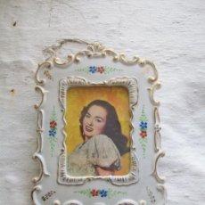 Vintage - PRECIOSO MARCO ANTIGUO EN CERÁMICA - 35802539