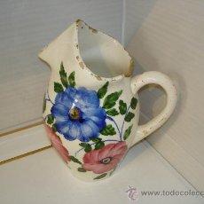 Vintage: JARRA DE LOZA DECORADA CON FLORES. Lote 35982452