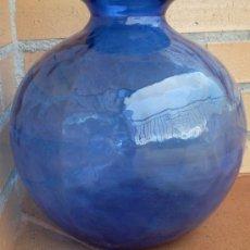 Vintage - Jarrón florero cristal azul vintage - 36319015