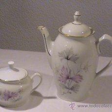 Vintage: CAFETERA Y AZUCARERO DE PORCELANA SANTA CLARA. Lote 36529147
