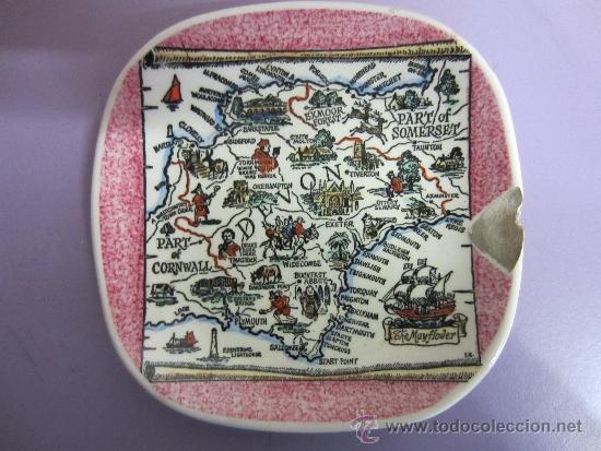 PLATITO INGLES CUADRADO (Vintage - Decoración - Porcelanas y Cerámicas)